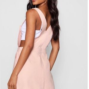 Nude/Pink Denim Dress